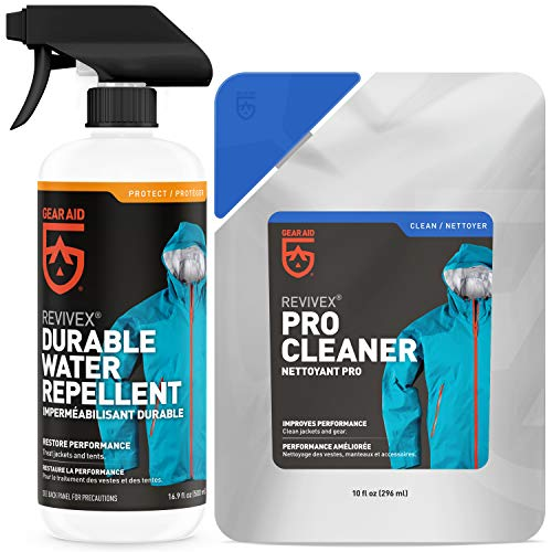 GEAR AID Outerwear Kit with Revivex Pro Cleaner and Revivex Durable Water Repellent Spray, 16.9 fl oz