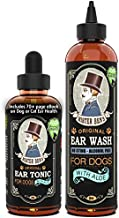 MISTER BEN'S Original Ear Cleaner for Dogs Care Kit - Most Effective Dog Ear Treatment & Cleanser - Includes Tonic & Wash - Fast Relief from infections, itching and Odors