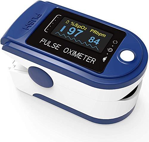 LUCARE Pulsoximeter EKG für den Finger zur Pulsmessung und Blut-Sauerstoffsättigung