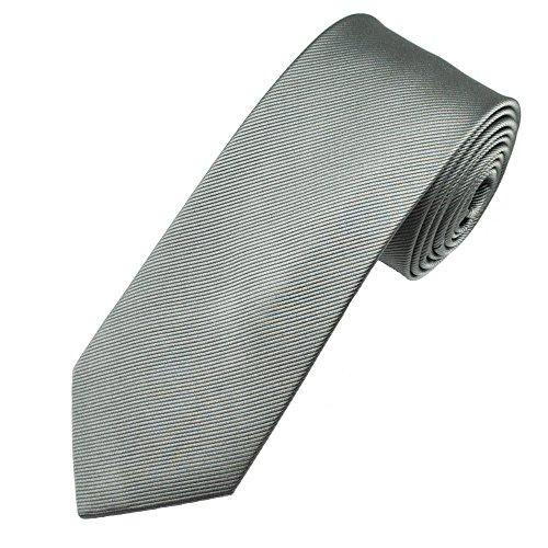 Corbatas de hombre gris - Corbata fabricada artesanalmente - Corbata Pietro Baldini 100% seda 150 * 7 (Gris)