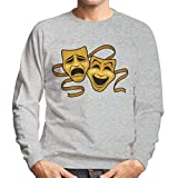 Photo de Cloud City 7 Comedy Tragedy Masks Gold Men's Sweatshirt par
