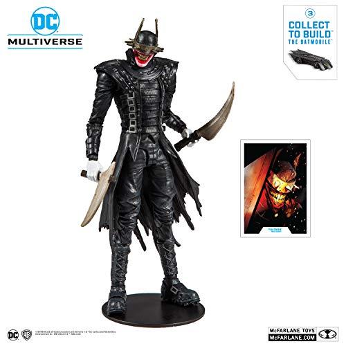 McFarlane Toys DC Multiverse Batman Who Laughs Action Figure with Build-A Rebirth Batmobile (Piece 3)
