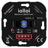 iolloi Universal-Dimmer für alle dimmbaren Leuchtmittel, Unterputz LED und Halogen Drehdimmer 3–300 Watt, kompatibel mit Busch Jäger, Gira, Jung, Berker, Kopp,3 Jahre Garantie