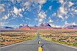 Poster 60 x 40 cm  Straße zum Monument Valley von