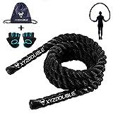 Cuerda para Saltar Combas de Fitness 3M Jump Rope Cuerda de Batalla Cuerda Pesada...
