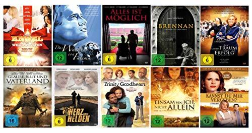 Die christliche Glauben Spielfilm - Sammlung ( 10 ausgewählte Glaubensfilme mit viel Botschaft - Herz und Liebe ) [10 DVDs]