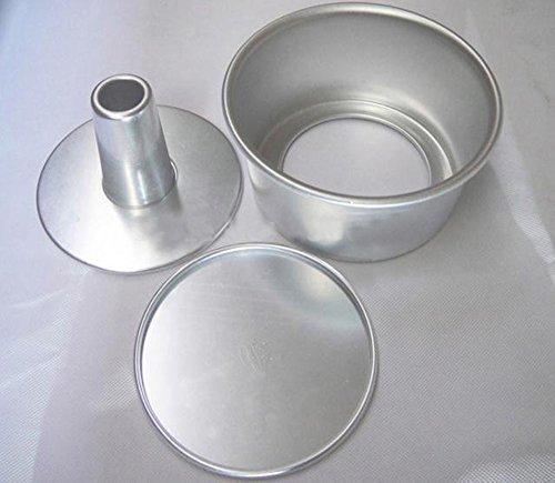 Dealglad 6 pollici Cavo in lega di alluminio, in Chiffon Mold-Teglia per Cake torte Angel Food-Stampo con base rimovibile