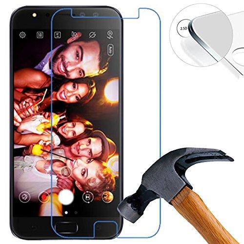 Lusee 2 Stück Schutzfolie für ASUS ZenFone 4 Selfie Pro ZD552KL 5.5 [9H Festigkeit] Bildschirmschutzfolie HD Schutzfolie [Anti Kratzer] [Anti Fingerabdruck] 2.5D Panzerfolie für ASUS ZenFone 4 Selfie Pro