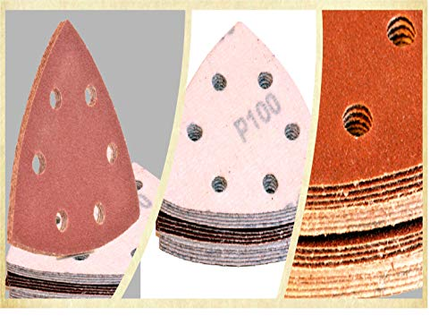 schleifdreiecke 93x93x93 │ 30 Stück │ Korn 40-800 verfügbar │ deltaschleifer schleifpapier (Korn 400)