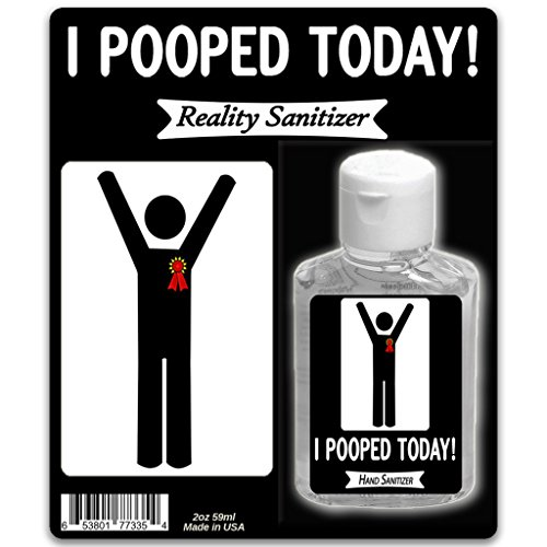 I Pooped Today Hand Sanitizer – 2 oz Sanitizer Silly Poop Gifts for Any Occasion Gag Gifts for Men...