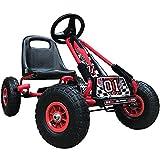 Kiddo RG0209 - Pedal para niños con diseño de Carrera, Color Rojo, para Montar en Coche, Asiento Ajustable, neumáticos de Goma, Apto para niños de 4 a 8 años
