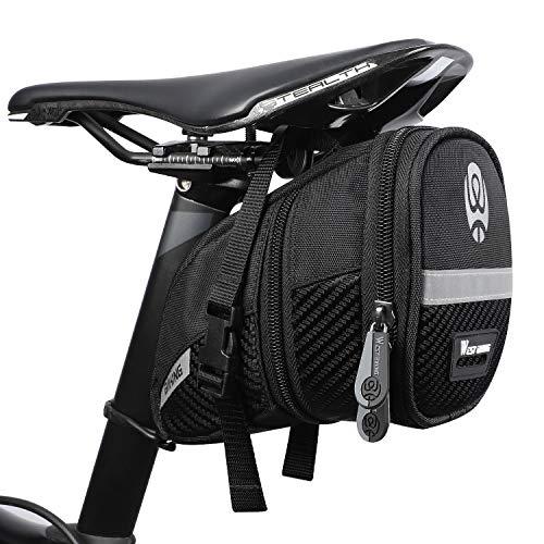 WESTGIRL - Bolsa para sillín de bicicleta, resistente al agua, con tiras reflectantes, gran capacidad, para herramientas de reparación de mini bombas, accesorios de bicicleta, Hombre, Estilo B.