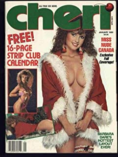 Cheri Adult Magazine January 1989 Miss Nude Canada