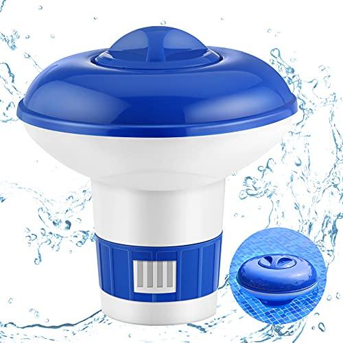 Pool Dosierschwimmer Chemikalien Spender, Chlordosierer für Pool Automatisch, Chlor Dosierschwimmer