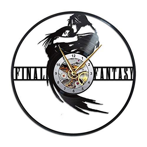 AroundTheTime Final Fantasy 8 Uhr, Final Fantasy VIII, ffviii, ff8, Squall Leonhart, Geschenk-Dekoration, Vinyl-Schallplatten-Wanduhr