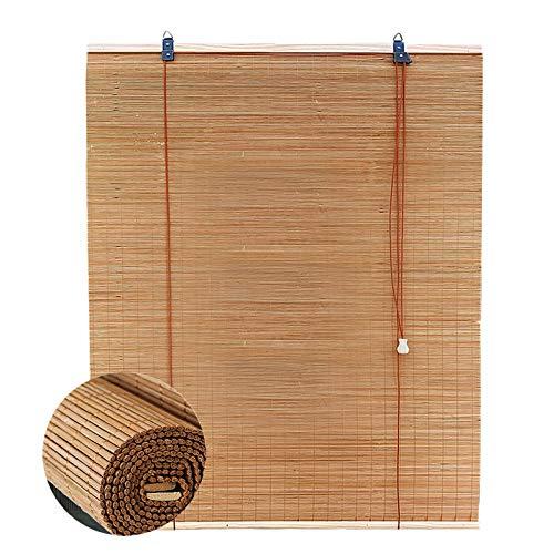 L-DREAM Sonnenschutz Bambusrollo, Fenster-Rollo Bambus, Belüftung, Hochwertige Holzrollo Für Innenfenster Decor, Außen, Balkon, Küche, Bambus Raffrollo 140cm