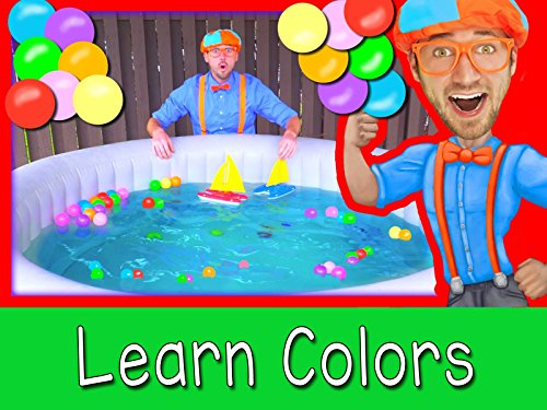 Boats for Preschoolers with Blippi - Learn Colors in the Hot Tub