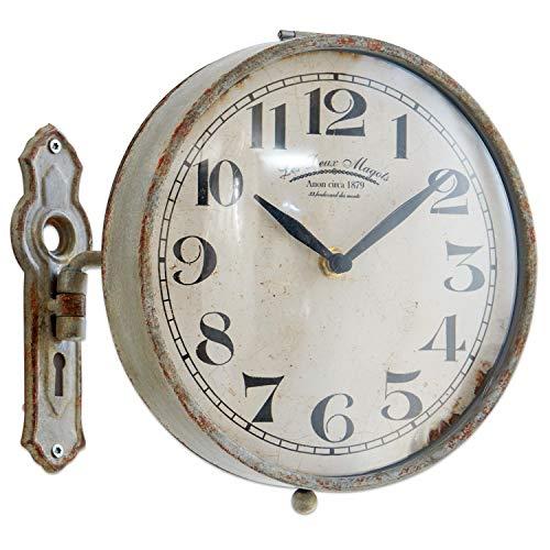 Loberon Uhr Adama, Eisen, T/Ø ca. 8,5/21,5 cm, antikgrau