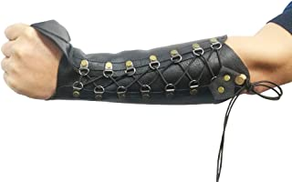 Nachvorn Handmade Leather Arm Guards Bow Hand Shooting Glove Adjustable for Hunting Shooting Target Practice Bow