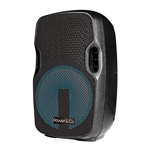Power and Co XPL15000BK Bafle Bluetooth, USB, Negro, 15000W,