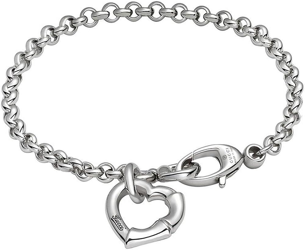 Gucci, bracciale bamboo  da donna,in  argento 925 (42.3 grammi) YBA390138001017