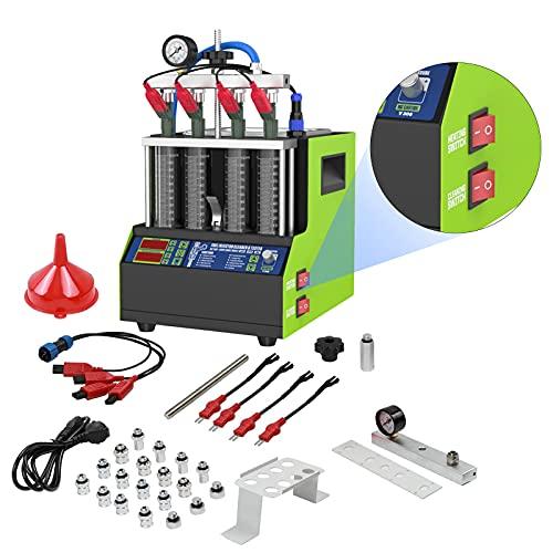 220V Kit LimpiadorInyectoresDiesel para el Inyector Diesel Common Rail, MR CARTOOL MáquinaLimpiainyeccion Gasolina Compatible con Coches y Motos de 4 Cilindros