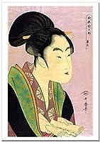 世界の名画 喜多川歌麿 歌撰恋之部 夜毎に逢う恋 ジークレー技法 高級ポスター (B4/257ミリ×364ミリ)
