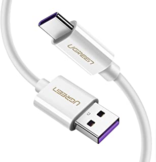 UGREEN USB C Cable 5A SuperCharge Charging Cable USB Type C Cord Fast Charger for Huawei P30 Pro, Mate 20 Pro, Honor Magic 2, Nova 5, Nova 5 Pro, P30, P20, P20 Pro, P10, P10 Plus - 2Meter White