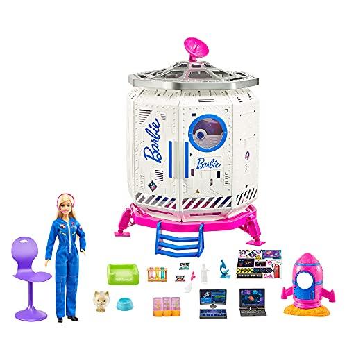 Barbie Set de juego Estación Espacial Muñeca con accesorios de juguete, regalo para niñas y niños +3 años (Mattel GXF27)
