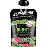 Organic Slammers Superfood Fruit Snack (24 Pouches) BURST Fruit & Veggie Squeeze Pouches   Apples, Bananas, Watermelon, Kiwi, Whey Protein Isolate   Gluten Free   More than just apple sauce!