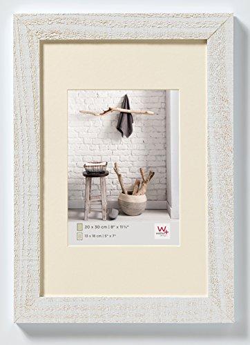 walther design HO045V Home Holzrahmen, 1 (30 x 45 cm), polarweiß