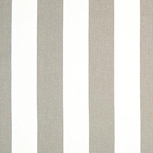 Baumwollköper Streifen – grau/weiß — Meterware ab 0,5m — STANDARD 100 by OEKO-TEX® Produktklasse I — zum Nähen von Outdoor Deko, Kissen/Tagesdecken & Gardinen