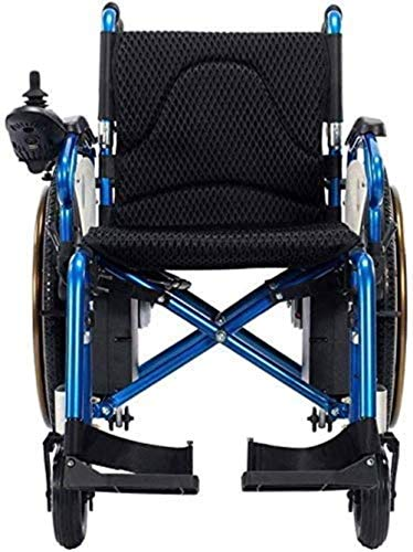 LTHDD Silla de Ruedas de aleación de Aluminio, Silla de Ruedas eléctrica portátil Plegable, Scooter, rotación de 360 °, Adecuado for la Multitud: Ancianos, discapacitados (106 × 67 × 93cm)