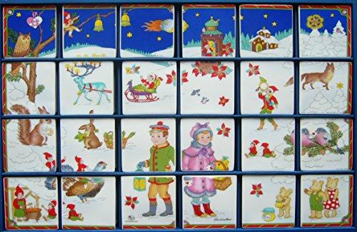 Hutschenreuther - Adventskalender 1999 - Schneelandschaft - Ole Winther - Limitiert - 24 Porzellankästchen