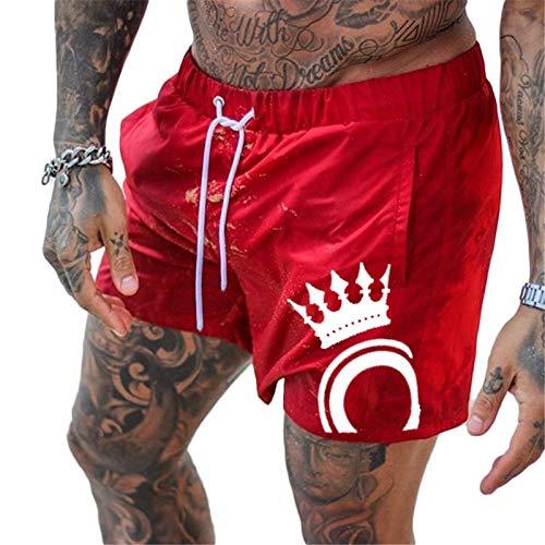 Nouveaux Hommes Gymnases Fitness Bodybuilding Shorts Hommes D'Été Casual Cool Pantalon Court Homme Jogger Workout Beach XL Rouge