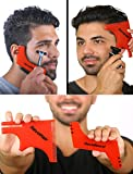 RevoBeard & RevoHair- Beard Shaping / Haircut Kit - Hair Line Lineup Tools Edge up Template - Haircutting Stencil Guide - Trimming Set - Barber Supplies - Cut w/ Clippers or Trimmers - Men's Home Grooming Kit