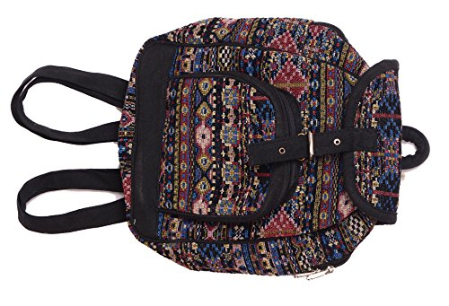 Vanya Handicraft Collection Men's and Women's and Even Kid's Jacquard Cutest Backpack (Multicolour, Small)