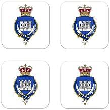 MyHeritageWear.com Mcleod Scotland Family Crest Square Coasters Coat of Arms Coasters - Set of 4