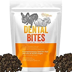 100% GRAIN FREE: Our Dental Bites are grain free, gluten free and packed full of beneficial ingredients to support healthy gums and teeth as well as digestion aid. The perfect treat supplement to a grain free based diet, perfect for sensitive stomach...