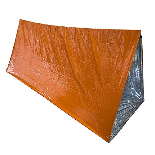 Yundxi Tente d'urgence, couvertures d'urgence, pour 2 Personnes en Plein air d'urgence Preparedness - Résistant à la déchirure et Couleur Orange très vis