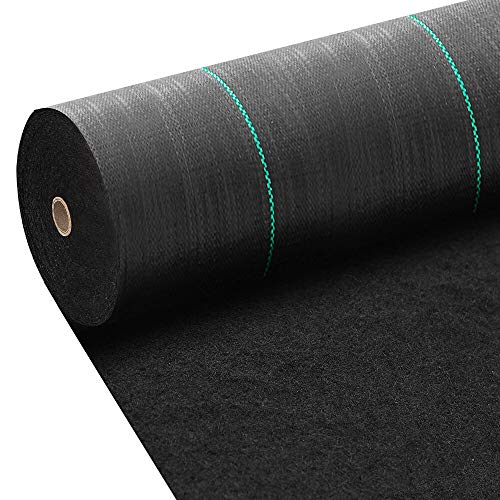 Amagabeli 4ft x 300ft Weed Barrier Landscape Fabric 5.8oz Heavy Duty Ground Cover Weed Cloth Geotextile Fabric Durable Driveway Cover Garden Lawn Fabric Outdoor Weed Mat