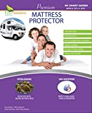 Four Seasons Essentials RV Short Queen Waterproof Mattress Protector (60' Wx75 L) - Fitted Sheet Style - Hypoallergenic Premium Quality Cover Protects Against Dust Mites, Allergens