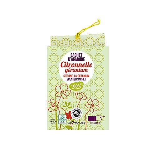 Aromandise Beutel für die Wäsche, pflanzliche Extrakte, grün, 12x 9x 0,4cm