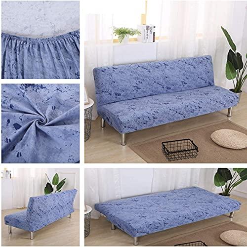 BECCYYLY Funda de sofá sin brazos, diseño floral de tela de licra elástica para futón, protector de muebles, protector elástico para sofá y sofá plegable sin reposabrazos