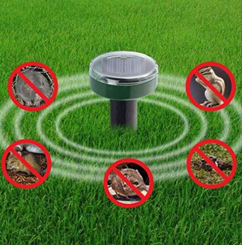 WSLDDD 4 Stück Outdoor Garten Mückenschutz Solar Ultraschall Ratte Schlange Schlangen Mückenschutz Maus Ultraschall Entwurmung Kontrolle Gartengerät