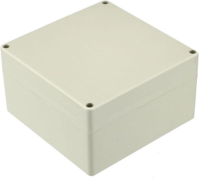 sourcing map 83 60mm Carcasa Caja de Conexiones de pl/ástico ABS electr/ónico Transparente DIY 81