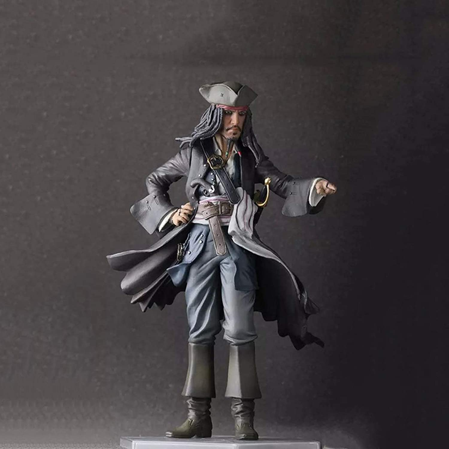 CQOZ Anime Model Caribbean Pirates Jack Captain Depp Statue Height 30cm Decorations Gifts Collections Birthday Gifts Character statue