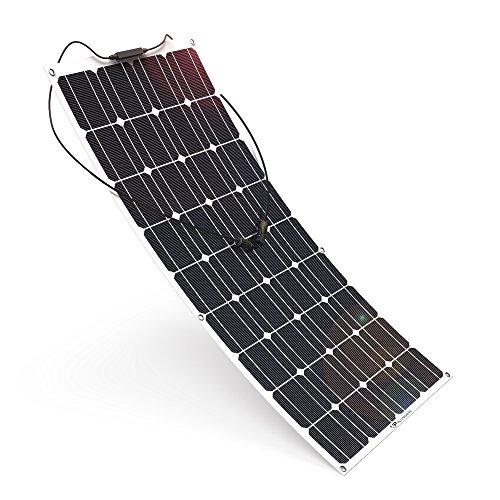 ALLPOWERS100W 18V 12V Solar Panel Monocristalino Célula Placa Solar Portatil Flexible Módulo con Conectador MC4 para Coche, Carpa, Cabina, Barco, RV