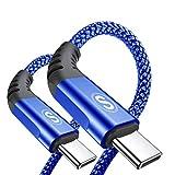 Cavo da USB C a USB C [2 pezzi 1m],【60 W 20 V / 3.1 A】 Cavo USB tipo C Cavo di ricarica rapida PD con...
