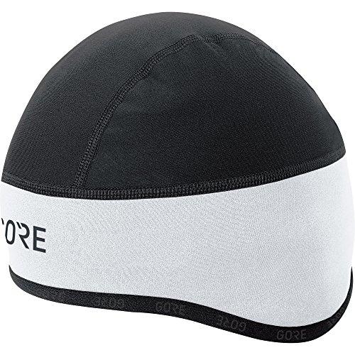 Gore Wear GORE Wear Winddichte Herren Fahrrad-Mütze, C3 WINDSTOPPER Kappe, Größe: 54-58, Farbe: Weiß/Schwarz, 100398